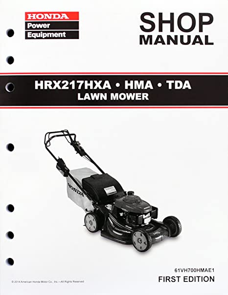 amazon com honda hrx217 hma hxa tda lawn mower service repair shop