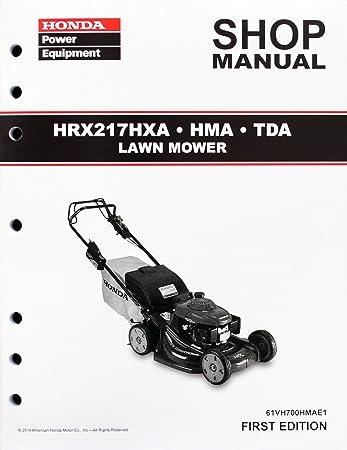 amazon com honda hrx217 hma hxa tda lawn mower service repair shop rh amazon com honda hrx 537 service manual owners manual honda hrx217