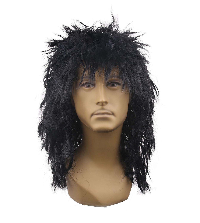 Rockin/' Rock Star Dude Halloween Costume Wig Black