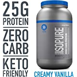 Isopure Zero Carb Protein Powder, 100% Whey Protein Isolate, Gluten Free / Lactose Free, Keto Friendly, Flavor: Creamy Vanilla, 3 Pounds