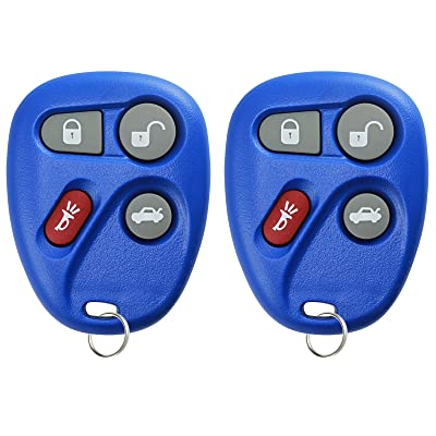 KeylessOption Keyless Entry Remote Control Car Key Fob Replacement for 25695954, 25695955 -Blue (Pack of 2): Automotive