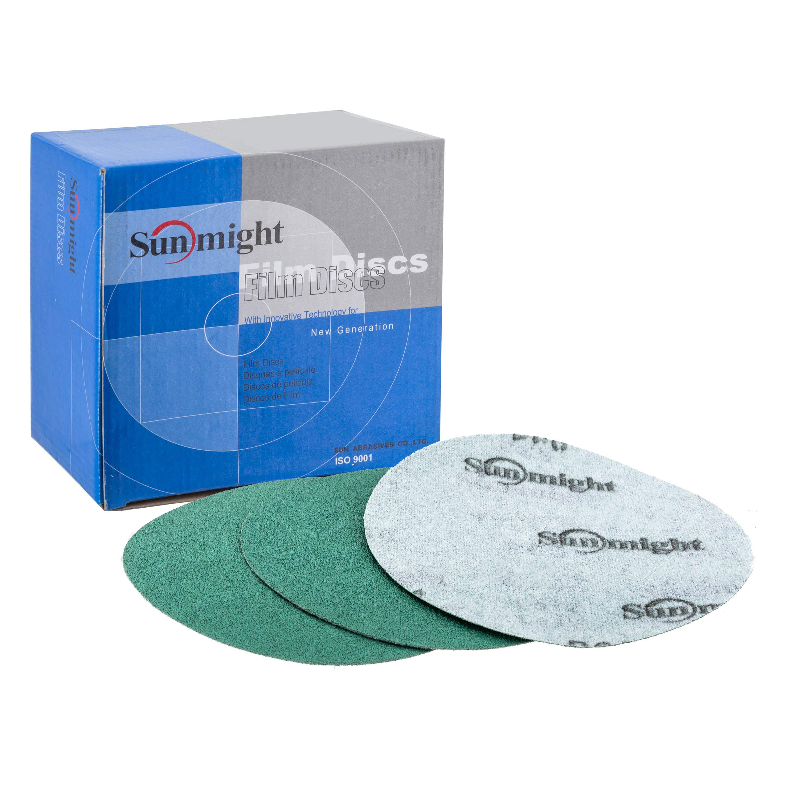 Sunmight 01407 1 Pack 6'' No Hole Velcro Disc (Film Grit 100)