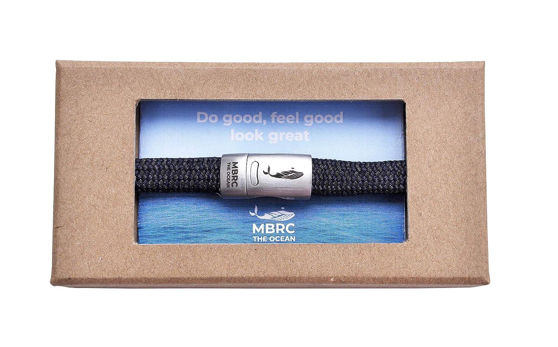 MBRC Armband mit praktischem click-on Magnetverschlu/ß Surfer Armband- Sportlich chic MBRC Atlantic Seilarmband aus 100/% recyceltem Plastik hergestellt