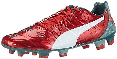 Pumas Evopower Graphique 1.2 Fg - Chaussures De Football Homme En Plastique, Rouge, Taille 40