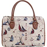 Signare Womens Fashion Canvas Tapestry Travel Weekend Overnight Bag in Yacht Design
