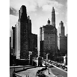 Cityscape Chicago Skyscrapers 1930s Buildings Photo Large Wall Art Print Canvas Premium Mural