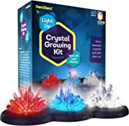 Light-up Crystal Growing Science Experiments Kit for Kids - Grow Your Own Crystals and Make Them Glow : Best Gifts for Kids,
