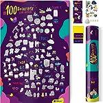 1DEA.me Raspe Poster # 100 Bucket List Love Edition - Idéias impressionantes para passar tempo juntos