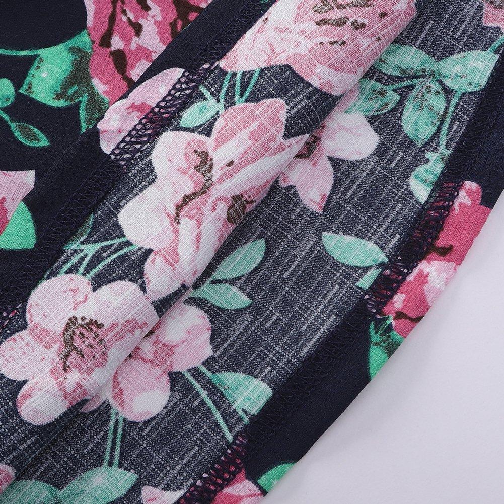 Motecity Girls' Skirt Set Flower Love Size 5 White-Navy by Motecity (Image #7)