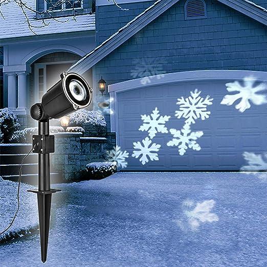 LED Luz Lámpara de copos de nieve con efecto drehef fría 4LED Luz ...