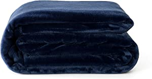 "Reafort Ultra Soft Flannel Fleece Royal Plush Velvet Lightweight Living Room/Bedroom Warm Blanket (Blue, Throw 50""x60"")"