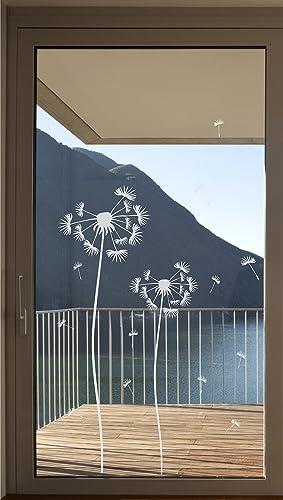 Hervorragend Pusteblume als Aufkleber Glastür Fensterfolie Glasdekor Tür Folie  ZP61