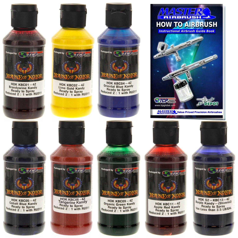 Amazon House Of Kolor 4oz 8 Color Kit Shimrin Kandy Ready To