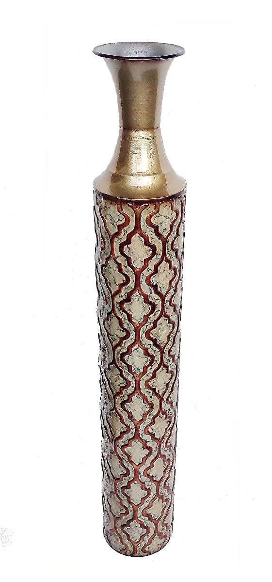 DLusso Designs TR4003 34 Inch Dina Collection Metal Floor Vase