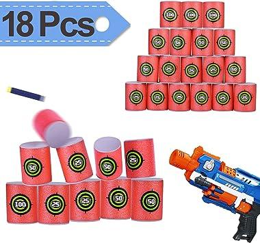 18PCS EVA Soft Bullet Target Dart For NERF N-Strike Elite Series Blasters Toy