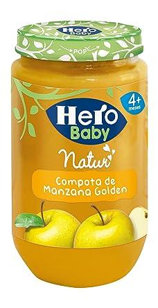 Hero Baby Compota de Manzana, Tarrito de Cristal - 235 gr