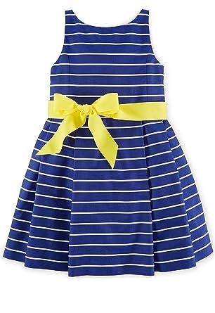 Ralph Lauren Polo Little Girls Striped Fit \u0026 Flare Dress