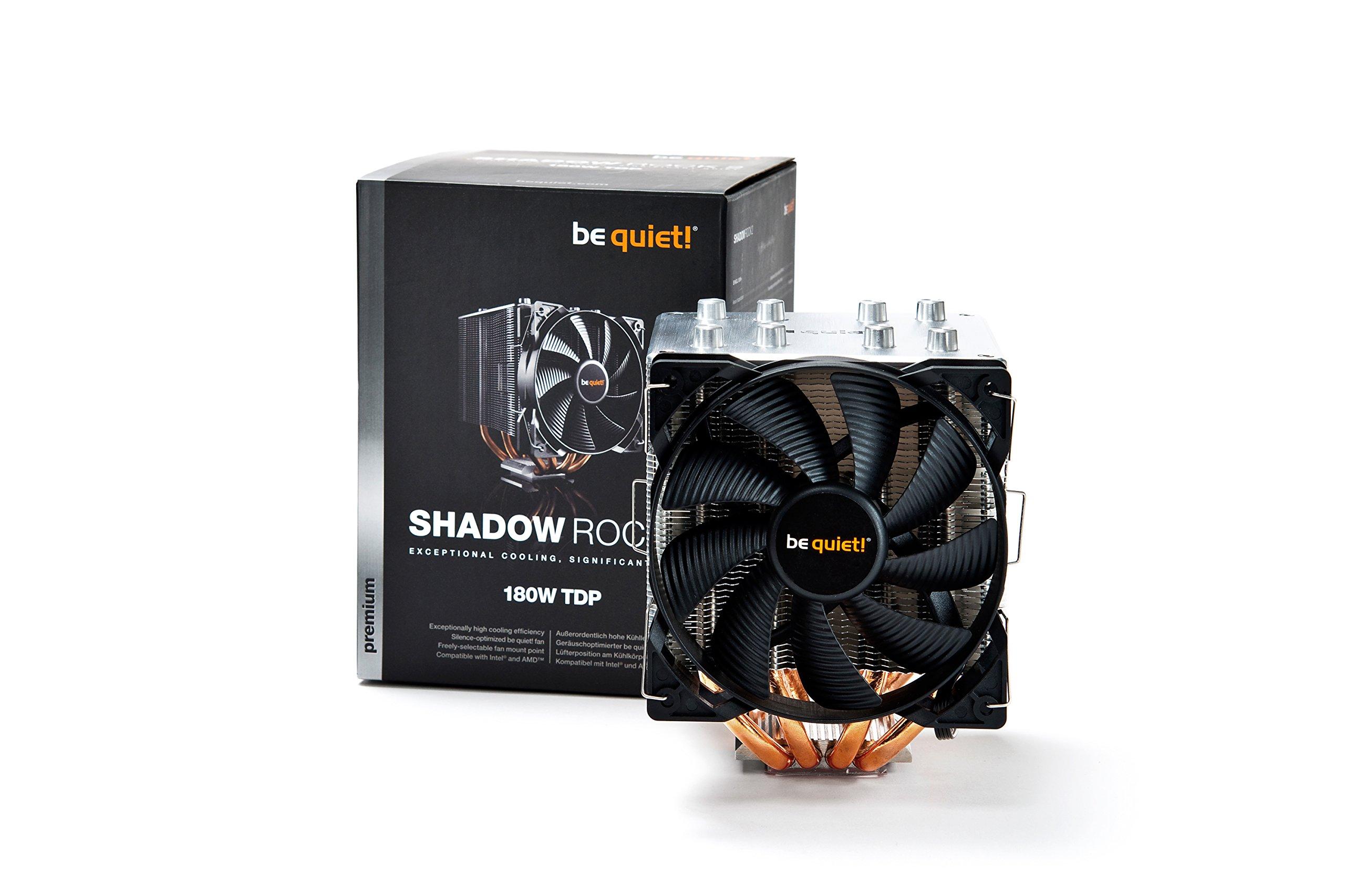 // AM3 be quiet 160W TDP- Intel LGA 775 // 1150 // 1155 // 1156 // 1366 // 2011 /& AMD Socket AM2 BK010 Shadow Rock Slim/ + CPU Cooler + // FM1 // FM2 // 754 // 939 // 940