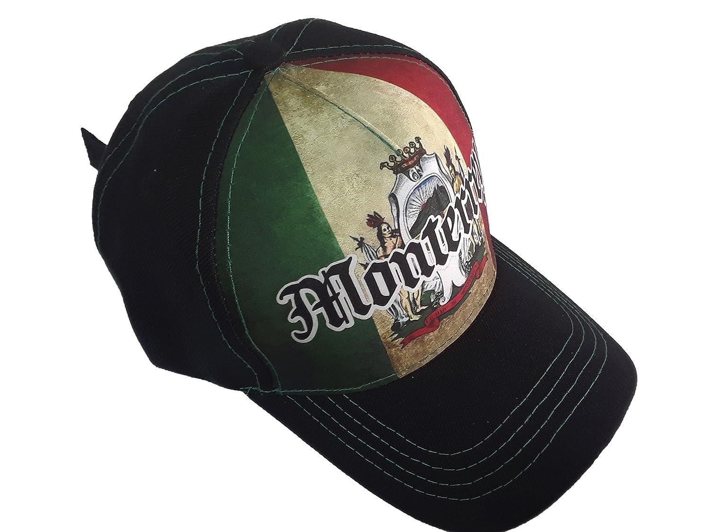 Gorra Charra Monterrey ID 210 GOX2 Mexico/Negro at Amazon Mens Clothing store: