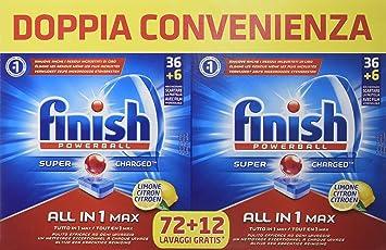 Finish All in 1, Pastillas para lavavajillas, Limón, 84 pestañas ...
