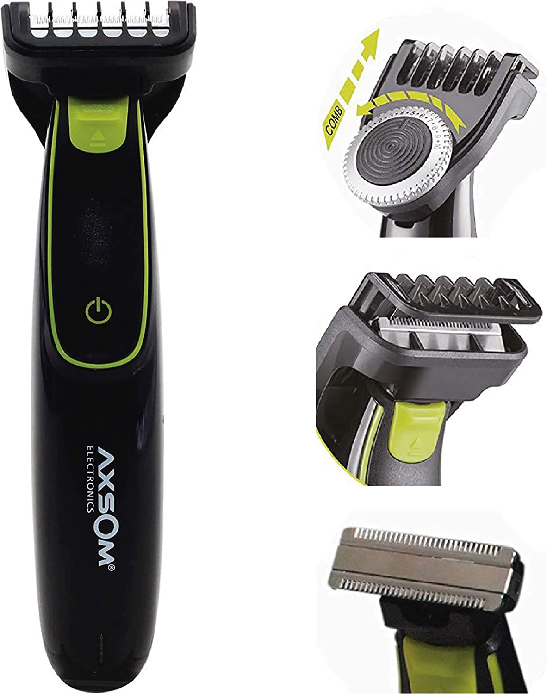 Range Sharp Blade Recortadora para Barba, Barbero eléctrico con batería, Afeitadora Corporal para Hombres Profesional con 20 Niveles. Cortapelos Negro