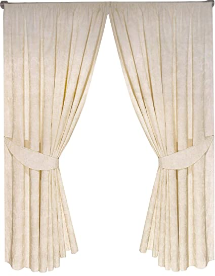 Home, Furniture & Diy United Oxford Check Lined Curtains Tiebacks Pair Brand New