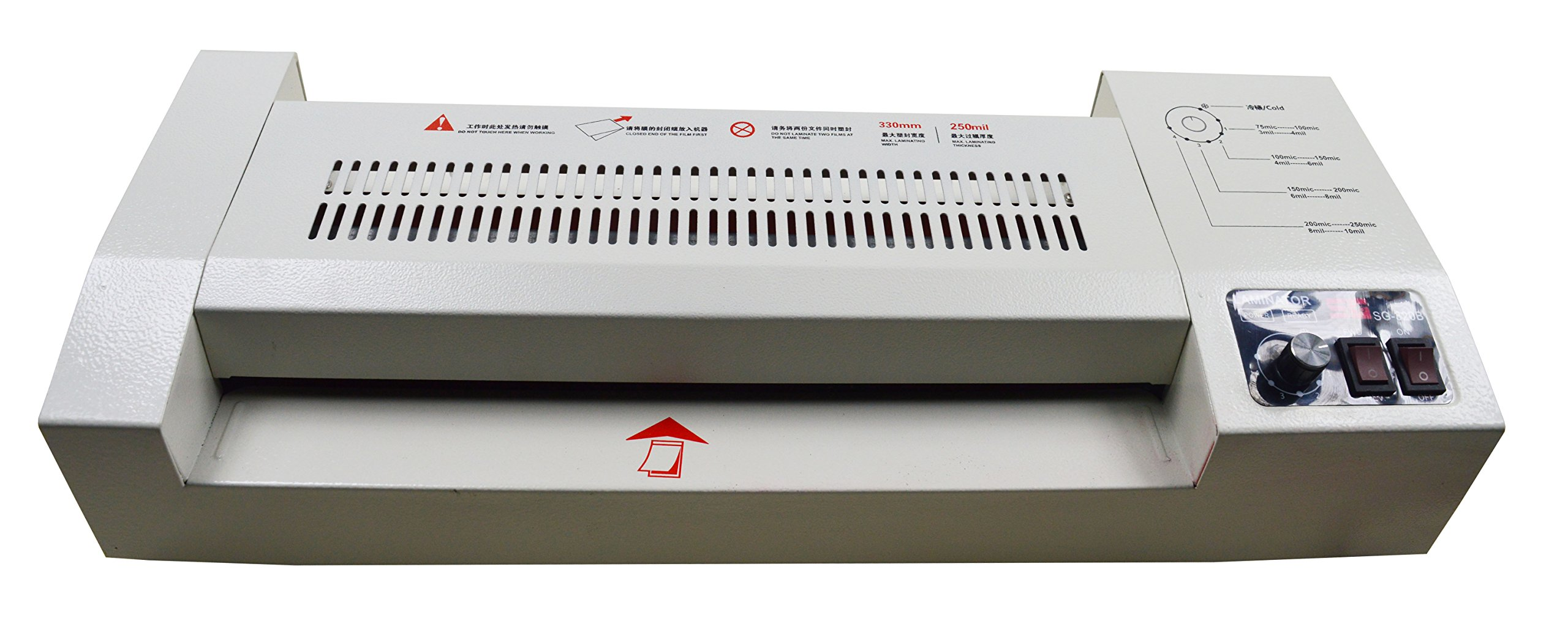 Professional 13'' Wide A3 4 Roll High Temperature Resist Hot Cold Laminator Laminating Machine for Document and Photo