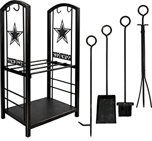 Imperial Officially Licensed NFL Merchandise: Dallas Cowboys Fireplace Wood Holder & Tool Set