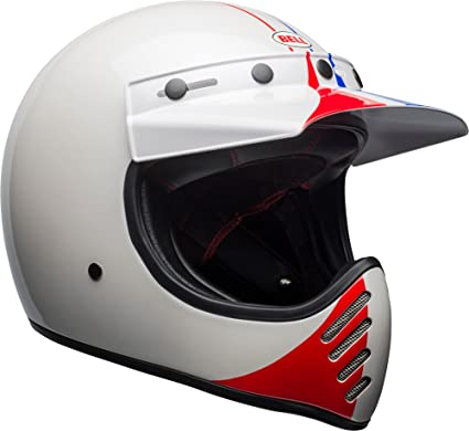 Bell Moto-3 Off-Road Motorcycle Helmet (Ace Cafe GP 66 Gloss White