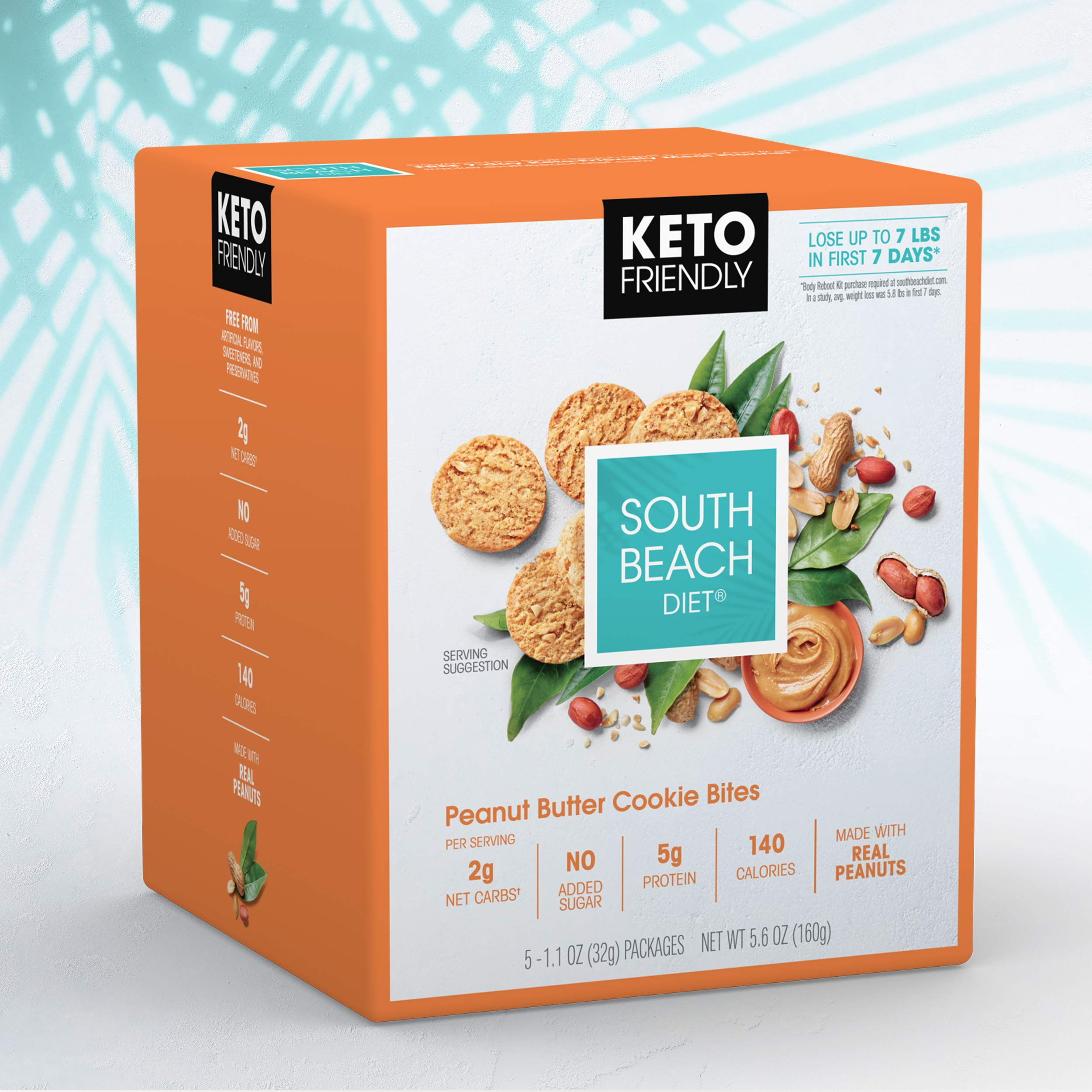 South Beach Diet® Peanut Butter Cookie Bites (20 ct) - Delicious Snacks Made to Support Healthy Weight Loss & Your Keto Lifestyle by South Beach Diet