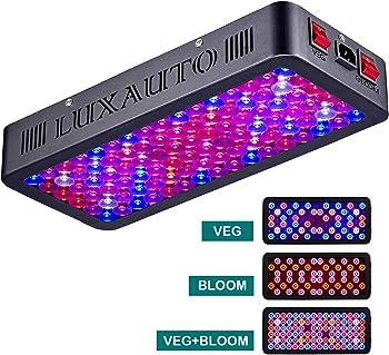 Luxauto 1000-Watt LED Grow Light with Lens Tech Daisy Chain Design