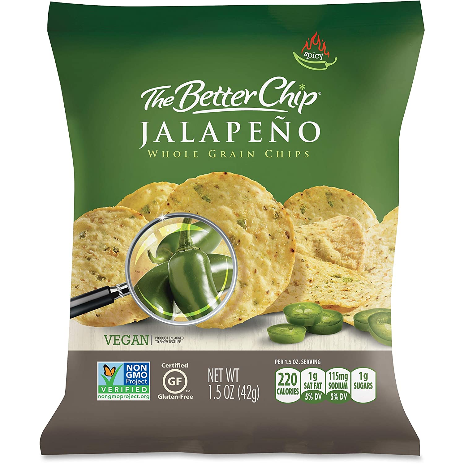 The Better Chip, SUG56097, Jalapeno Chips, 27 / Carton
