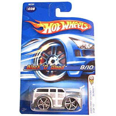 Hot Wheels 2005 First Editions Blings #9 Block 'O Wood Silver and White #2006-38 Collectible Collector Car Mattel 1:64 Scale: Toys & Games