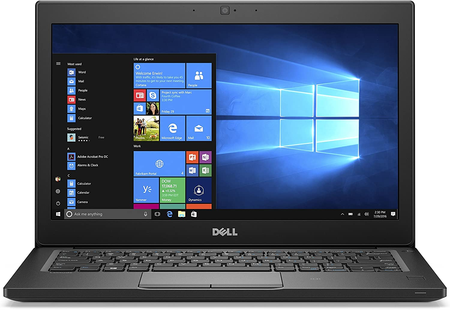 Dell Latitude 7280 Intel Core 12.5 inch FHD i7-7600U 16GB DDR4 512GB SSD Windows 10 Pro Business Ultrabook