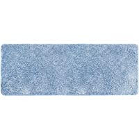 mDesign Soft Microfiber Polyester Non-Slip Extra-Long Spa Mat/Runner Plush Water Absorbent Accent Rug for Bathroom…