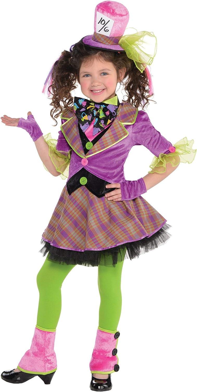 amscan Disfraz de Sombrerero Loco para niñas (4-6): Amazon.es ...