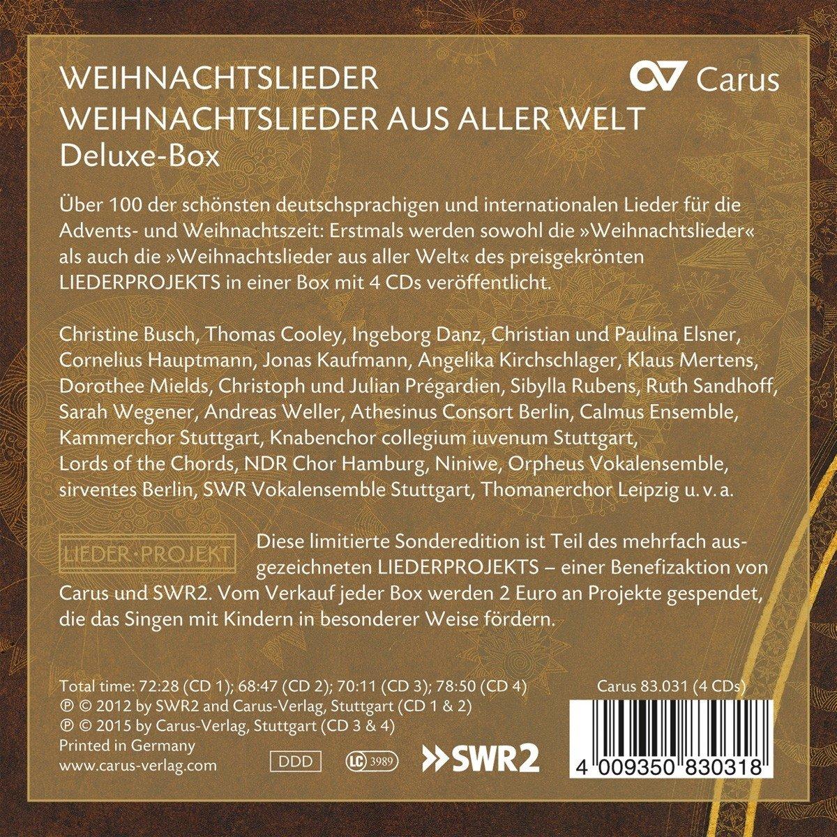 Jonas Kaufmann Weihnachtslieder.Weihnachtslieder Aus Aller Welt Deluxe Box