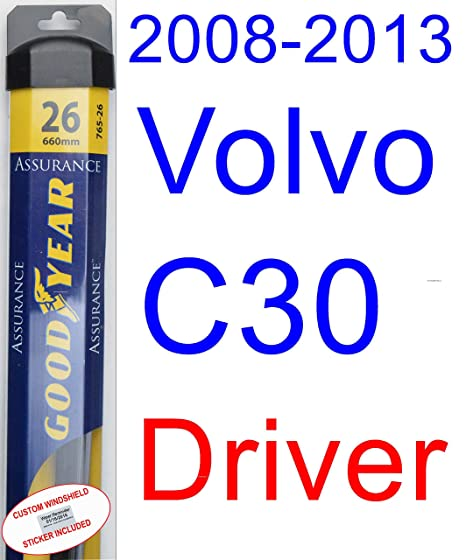 2008 - 2013 Volvo C30 hoja de limpiaparabrisas de repuesto Set/Kit ...