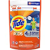 Tide Pods Plus Febreze Sport Odor Defense Laundry Pacs, Active Fresh, 32 Count
