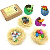 Guaishou Dinosaur Egg 15pcs Nest Novelty Magic Hatching Growing Toys Children Birthday Gift Perfect Holiday Party Game Contains Gems