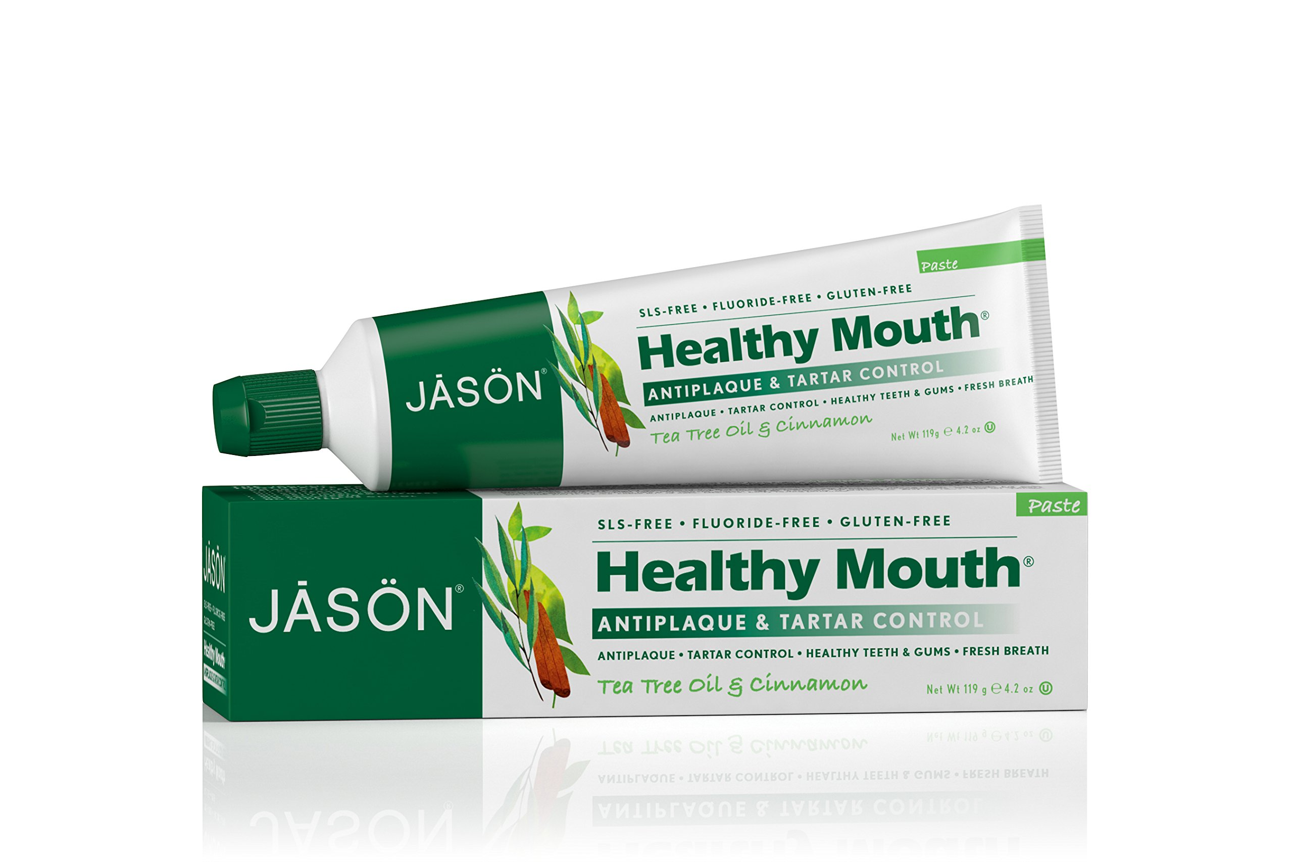Jason Healthy Mouth Toothpaste, Tea Tree Oil & Cinnamon, 4.2 Ounces