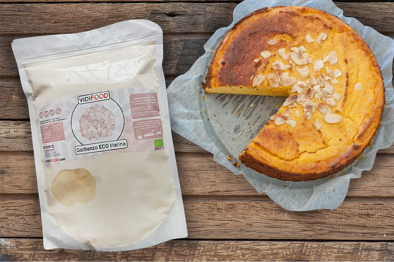 Harina de Garbanzos ECO - 2kg - Garbanzos Orgánicos Molidos para cocinar y hornear - Harina sin gluten, baja en carbohidratos y alta en proteínas