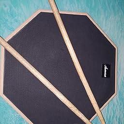 """Asmuse Drum Practice Pad 12"""" de práctica almohadilla de batería Transporte para Entrenamiento-Gris: Amazon.es: Instrumentos musicales"""