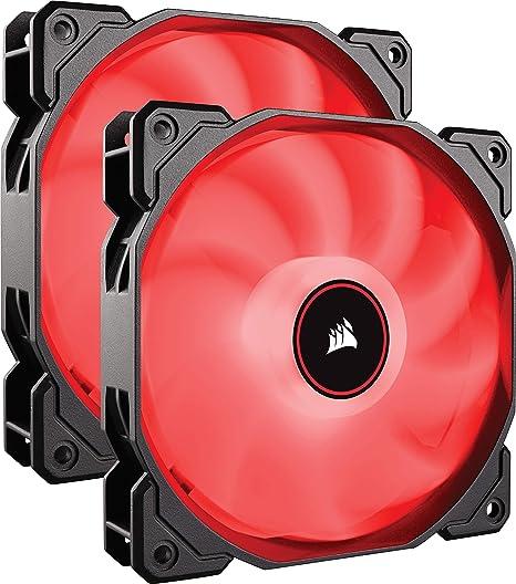 Paquete de 3 Ventiladores de refrigeraci/ón silencioso de 120 mm Corsair AF120 Air Series LED Color Rojo