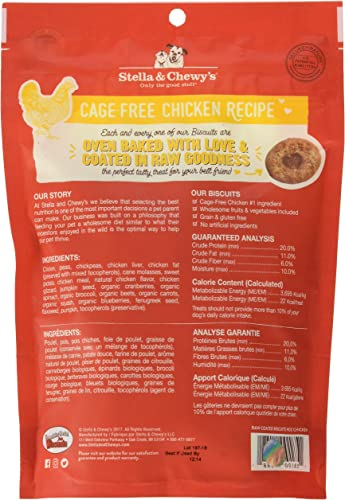 Stella And Chewy S Raw Coated Biscuits Chicken 9 Ounces