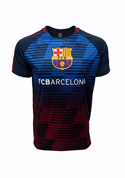 a0b8dbcce FC BARCELONA Official Merchandise by HKY Sportswear Men s Printed Front  Raglan Jersey (Navy