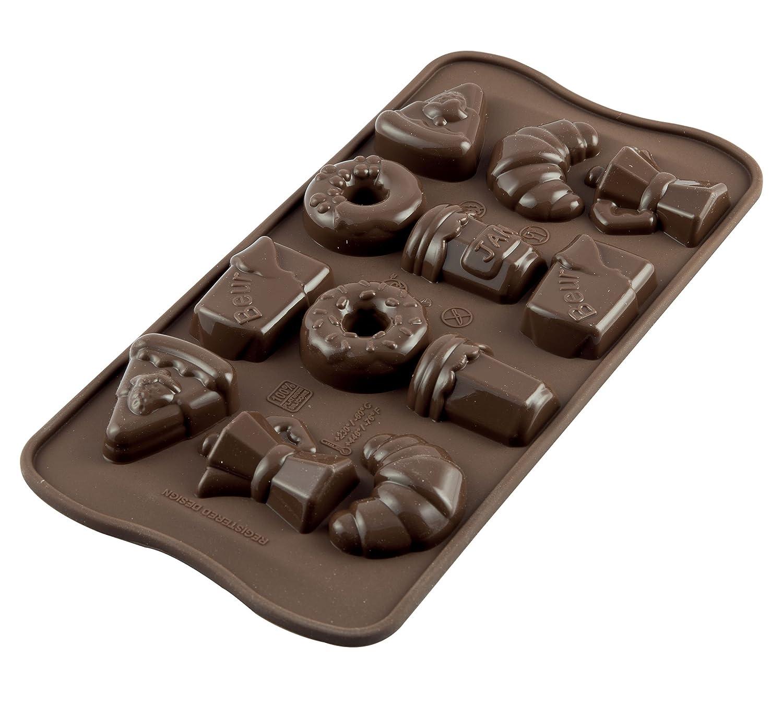 SCG24 Molde de Silicona para chocolatines springlife, Color marrón: Amazon.es: Hogar