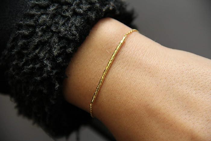 5a8142b4d84 Hammered Bar Bracelet - Thin Gold Bracelet - Dainty Gold Bracelet - Simple Gold  Bracelet - Gold Filled Bracelet - Rose Gold Filled Bracelet - Bar Bracelet