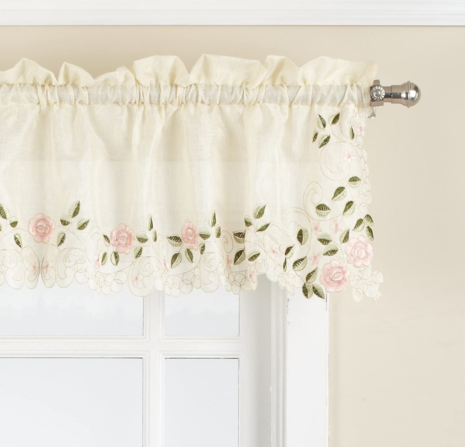 Lorraine Home Fashions Rosemary Tailored Valance, 58-Inch by 12-Inch, Linen Lorraine Home Fashions (Home) 00238-V-00059