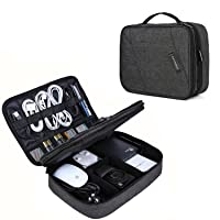Deals on BAGSMART Electronic Organizer Double Layer Bag Large 10.5-in